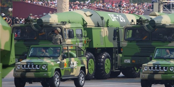 China Launches Antiship Ballistic Missiles in Test