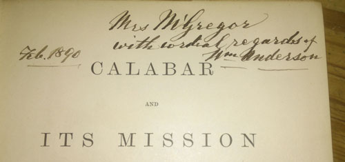 Calabar and its Mission - Title page
