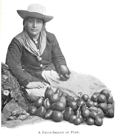 A fruit seller of Peru