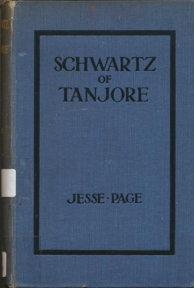 Jesse Page, Schwartz of Tanjore.