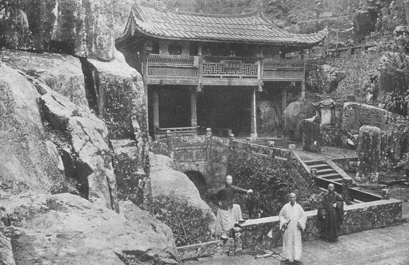 "A Buddhist Temple and Priests. Maud Elizabeth Boaz [1873-1937], ""And the Villages thereof"", page 48."