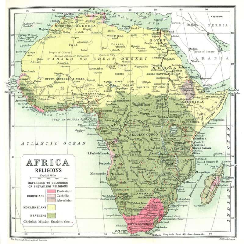 Religions of Africa, circa 1911