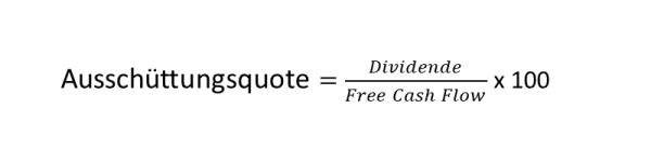 Was ist eine Dividende - Formel Ausschüttungsquote vs. Free Cash Flow