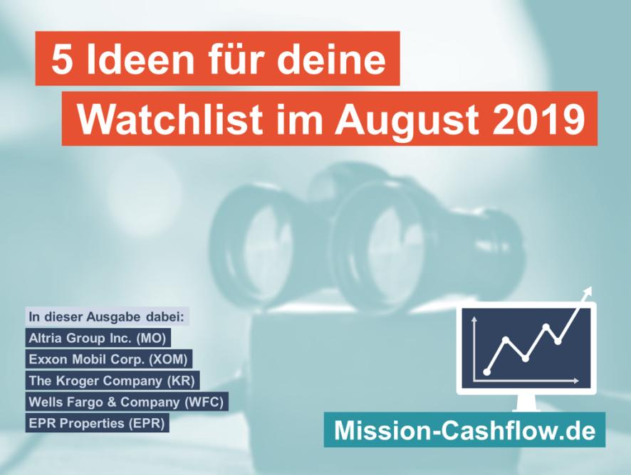 5 Ideen für deine Watchlist im August 2019 + Bonusidee!