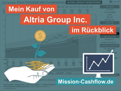Im Rückspiegel: Mein Kauf von Altria Group