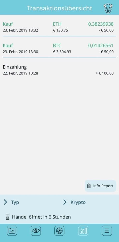 Screenshots Bison App - Börse Stuttgart 4