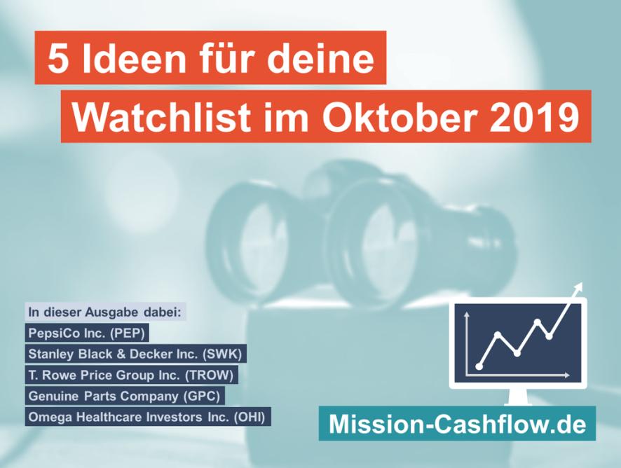 5 Ideen für deine Watchlist im Oktober 2019 - Dividenden-Aristokraten-Edition