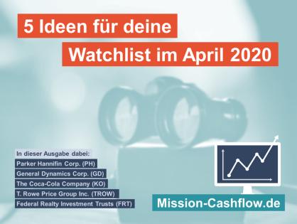 5 Ideen für deine Watchlist im April 2020