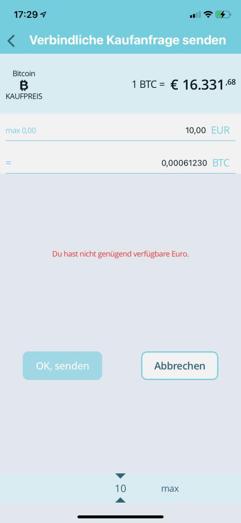 Bitcoin kaufen in 2020 - Bison App 4