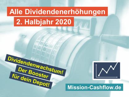 2. Halbjahr 2020: Dividendenwachstum ist der Booster für dein Depot!