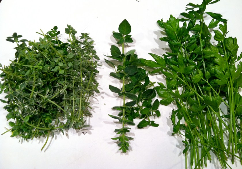 Thyme, Hot & Spicy Oregano, Parsley