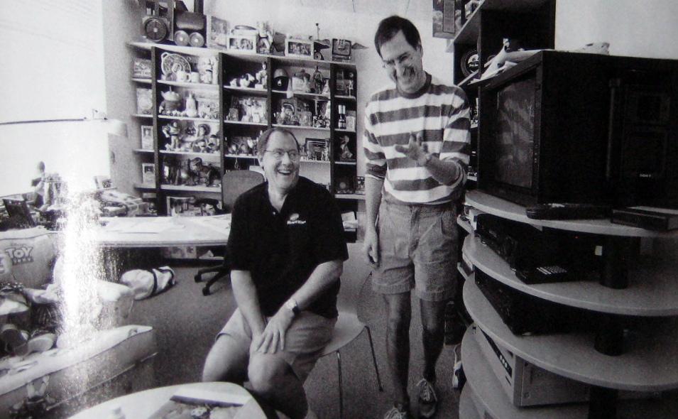 Steve Jobs avec John Lasseter pour créer Pixar