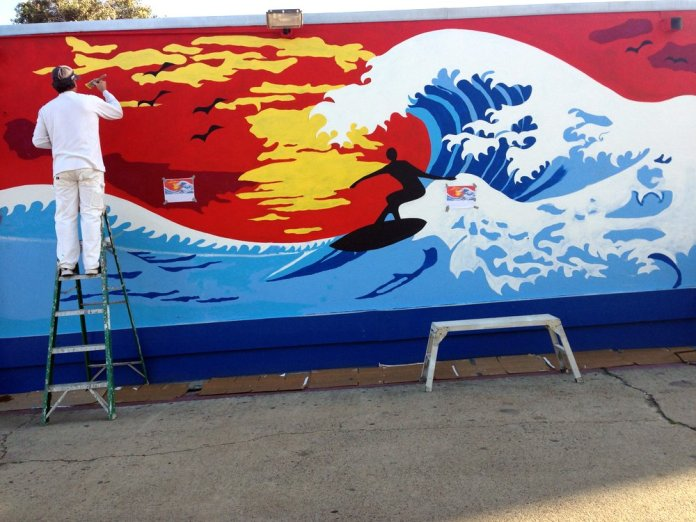 Mission Beach Wall Mural