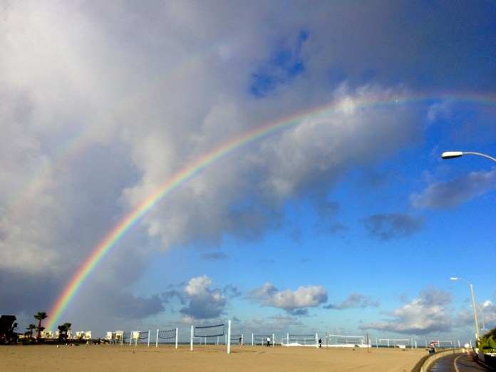 rainbow over south mission beach