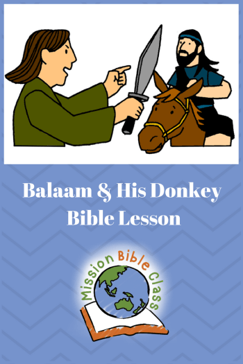 Balaam and His Donkey Pin
