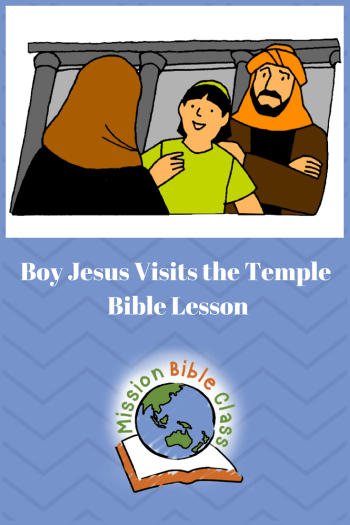 Boy Jesus Visits the Temple Pin