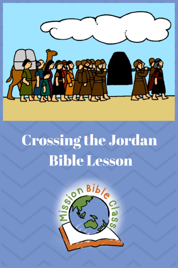 Joshua and the Israelites Cross the Jordan River coloring page ... | 525x350