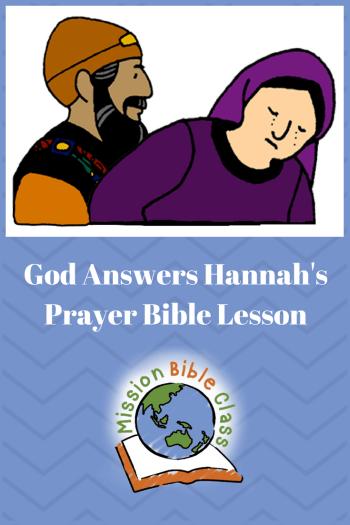 God Answers Hannah_s Prayer Pin