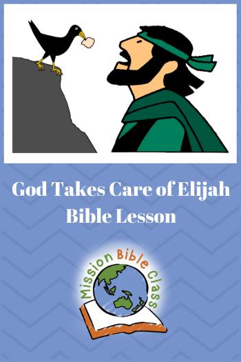 God Takes Care of Elijah Pin