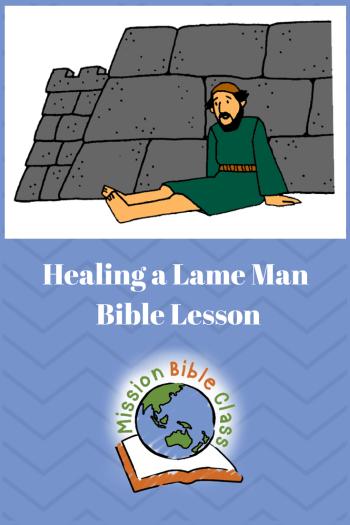Healing a Man Who Could Not Walk Pin