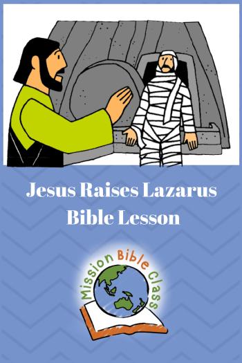 Jesus Raises Lazarus Pin