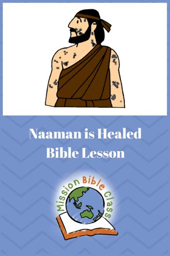 Naaman is Healed Pin