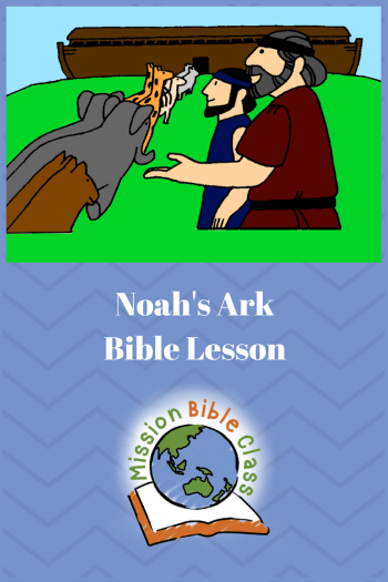 Noah Builds an Ark and Loads Animals Pin