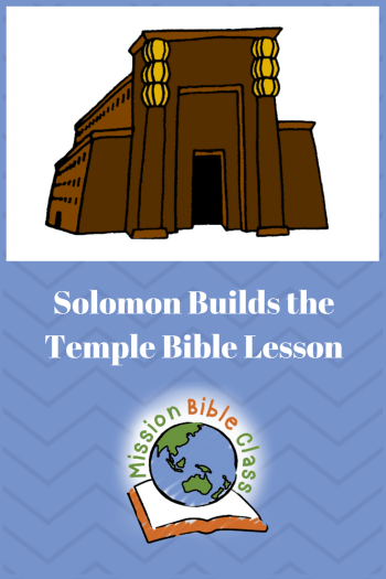Solomon Builds the Temple Pin