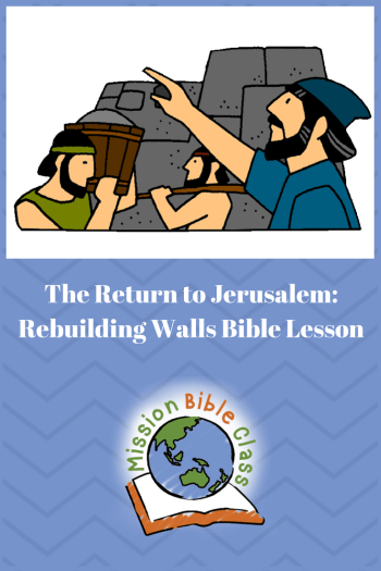 The Return to Jerusalem- Rebuilding Walls Pin