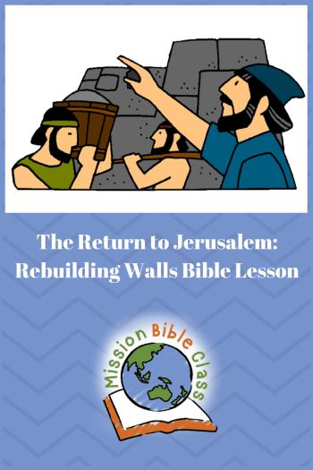 The Return to Jerusalem- Rebuilding Walls Pin