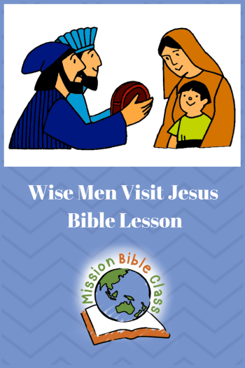Wise Men Visit Jesus Pin
