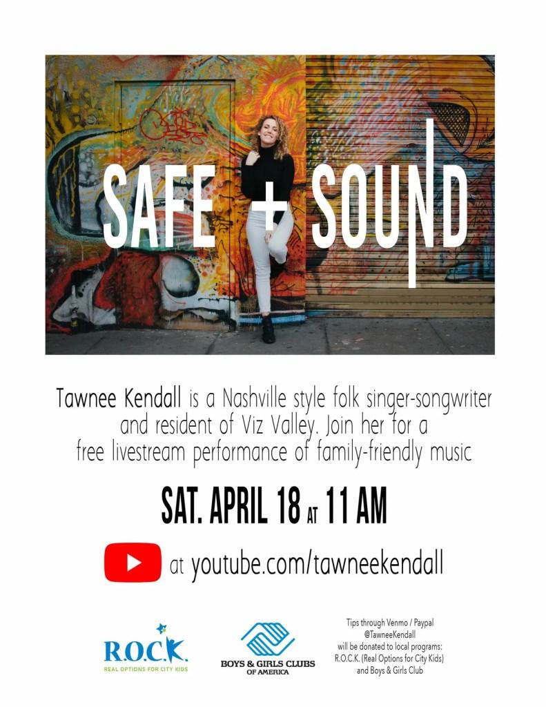 Safe and Sound concert flyer