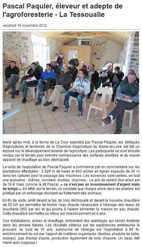 Agroforesterie Cholet Anjou