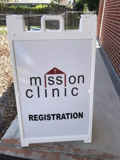 Mission Clinic Sign-Portrait