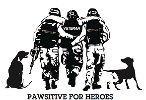 Pawsitive for Heroes Logo