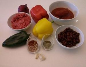 chili con carne ingrédients