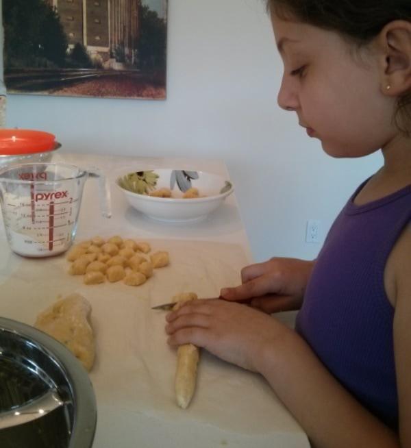 couper gnocchis