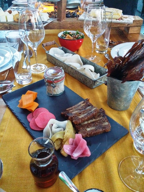 jerky boeuf et plateau vegecuterie