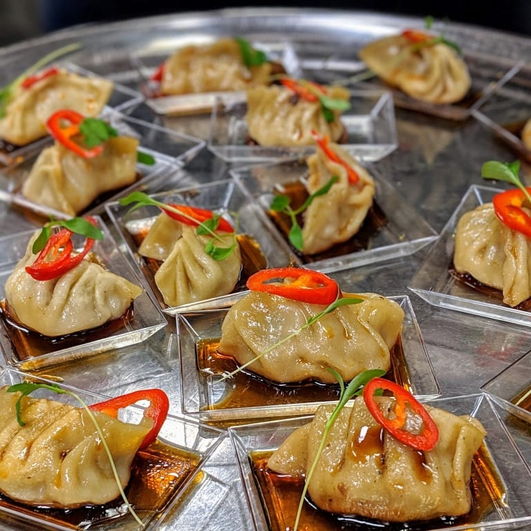Les dumplings de Stéphane Gadbois lors des événements épicuriens Food Camp Québec