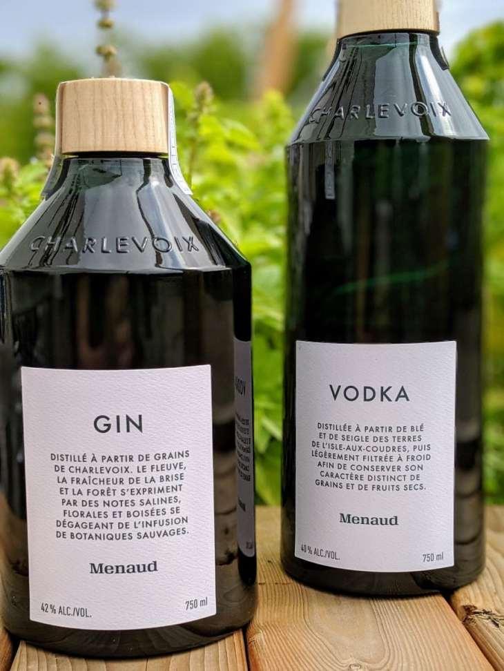 Le gin et la vodka Menaud