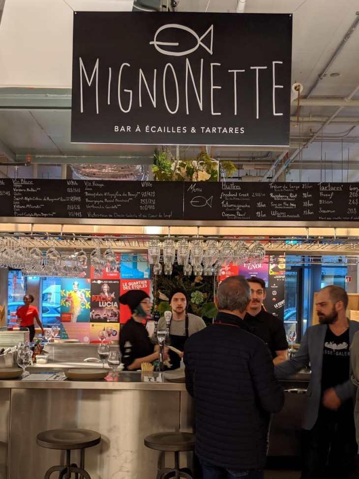 Mignonette Bar à écailles et tartare