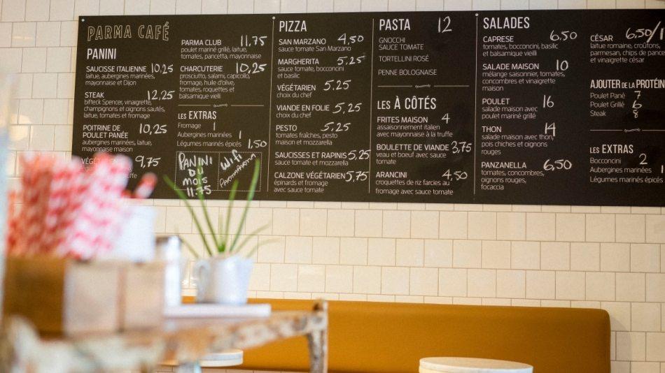 Le décor du Parma Café Jean-Talon