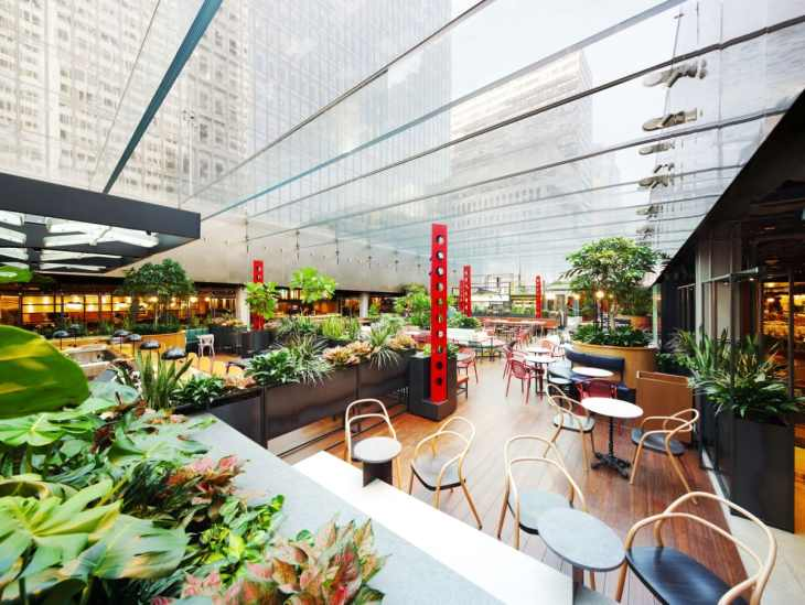 le bel espace propulsé par Sid Lee architecture Le cathcart et Biergarten