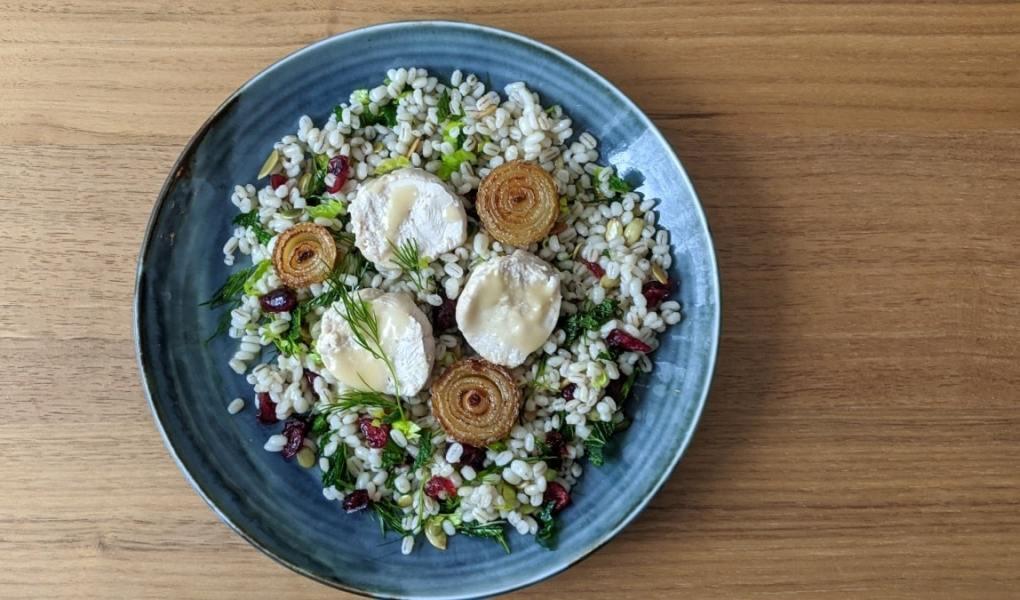 salade orge fines herbes et dindon