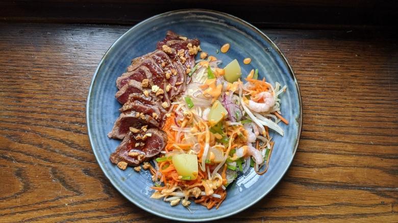 Salade de boeuf au curry