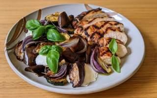 salade aubergines grillées et dindon à l'italienne