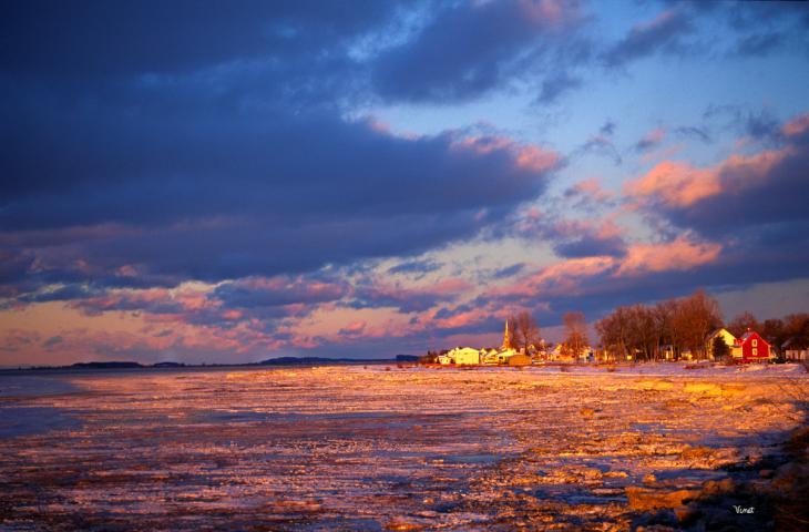 Coucher de soleil Isle-aux-grues