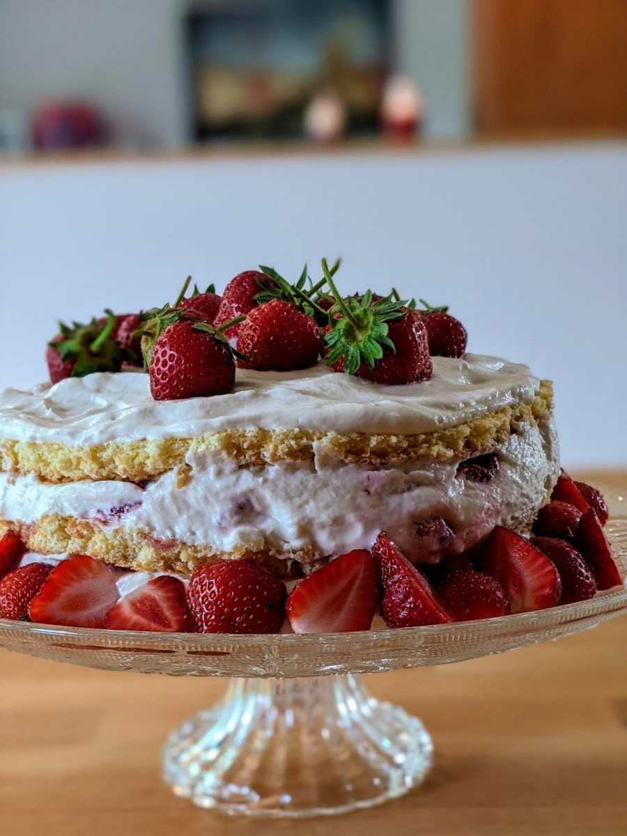 Shortcake aux fraises et décor