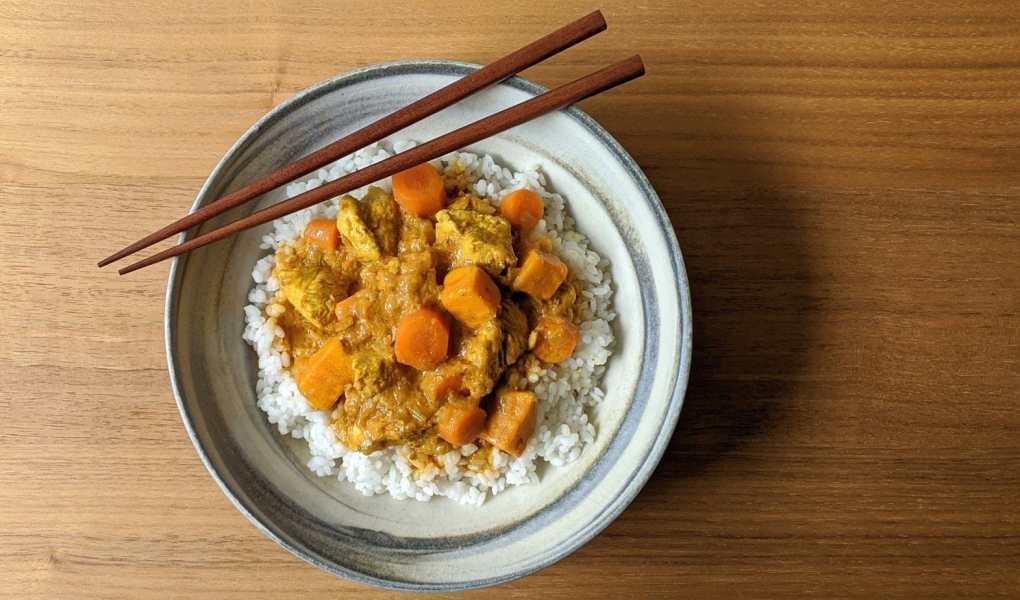 Curry coréen dindon et légumes