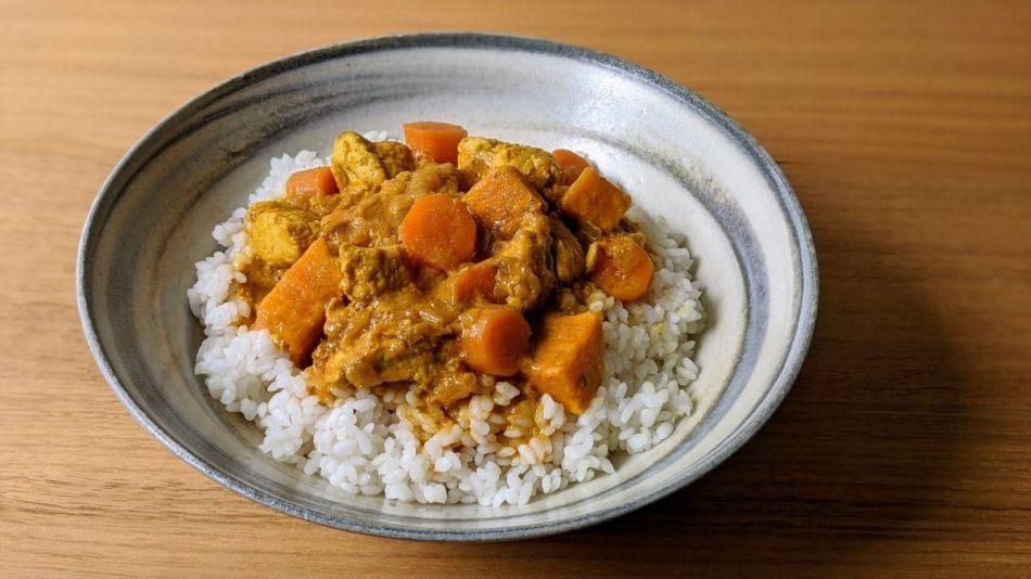Curry coréen, riz, dindon